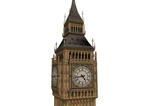 3D Modell von Big Ben (London), Detail